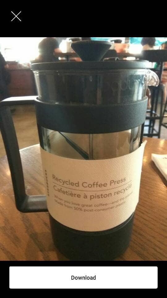 Jual Starbucks 8-Cup French Press Recycled Plastic by Bodum - Jakarta Utara  - Macova Shop   Tokopedia