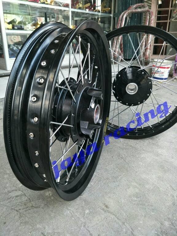 Jual Sepaket Lengkap Velg Ring 17 Tapak Lebar Motor Classic Cb 100