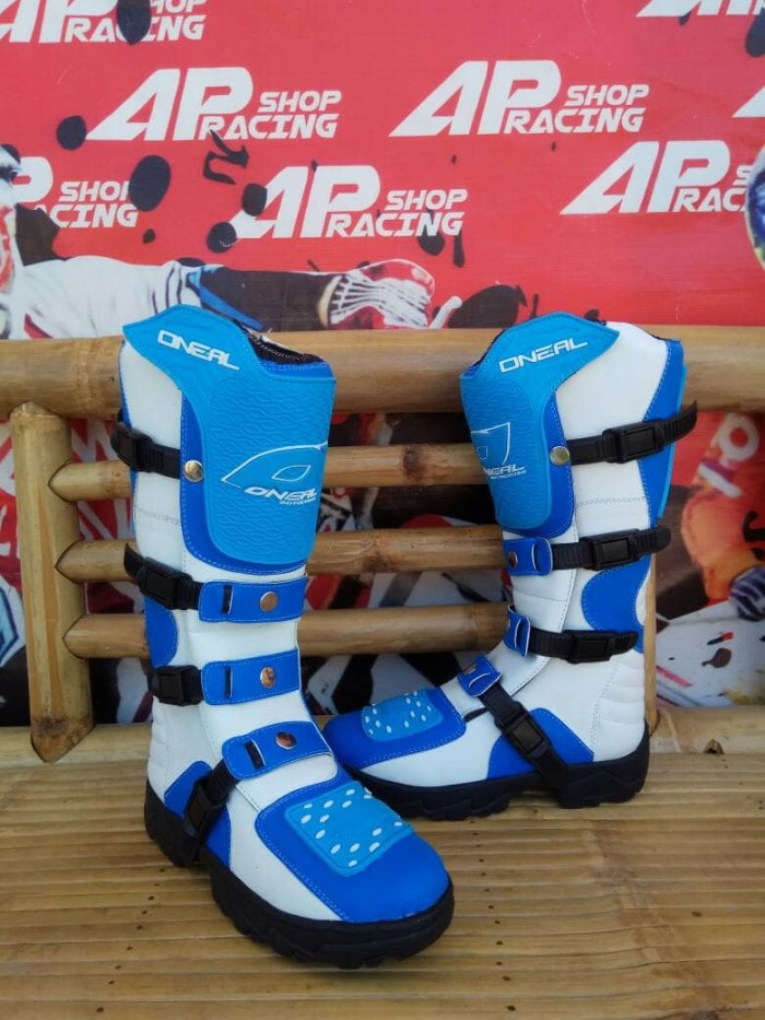 harga Sepatu trail cross oneal biru putih Tokopedia.com