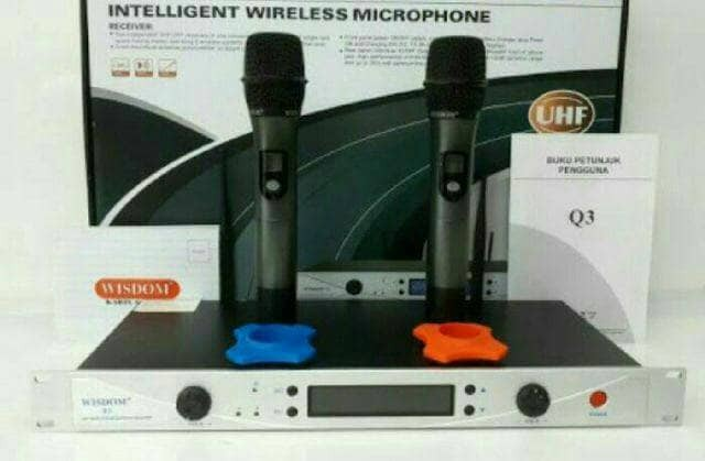 harga Microphone wireless wisdom q3 Tokopedia.com
