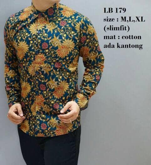 harga Kemeja batik pria / batik pria / kemeja batik / slim fit / lb179 Tokopedia.com