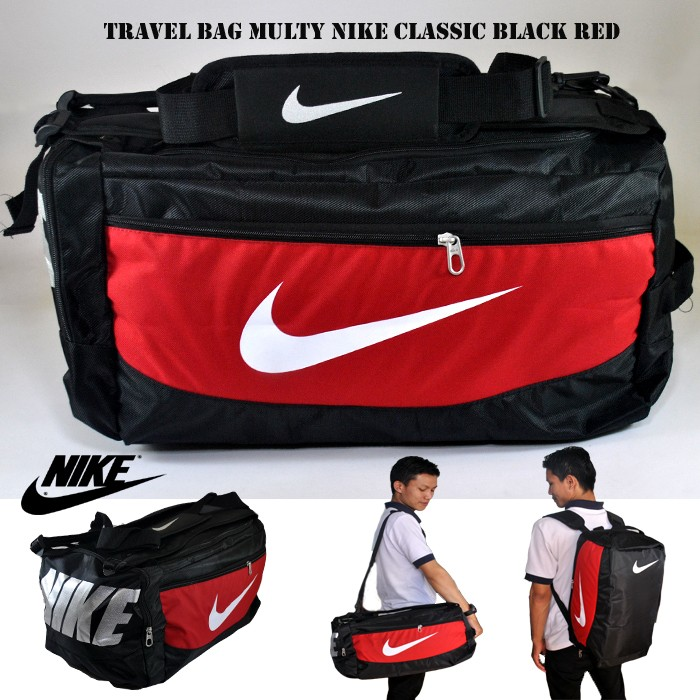 harga Travel bag nike classic hitam merah . tas travel . tas baju travel Tokopedia.com