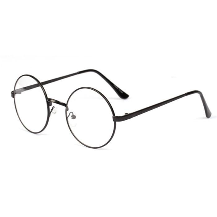 Kacamata Vintage Nerd Frame Bulat Retro Baru