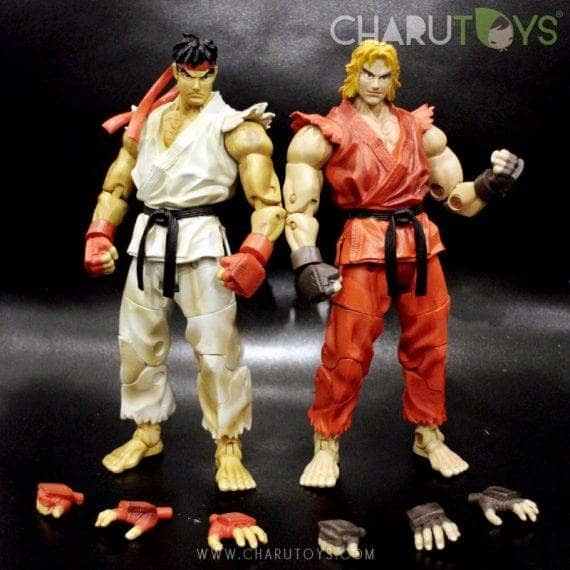 Foto Produk Street Fighter Ryu & Ken set of 2 figure dari Charu Toys