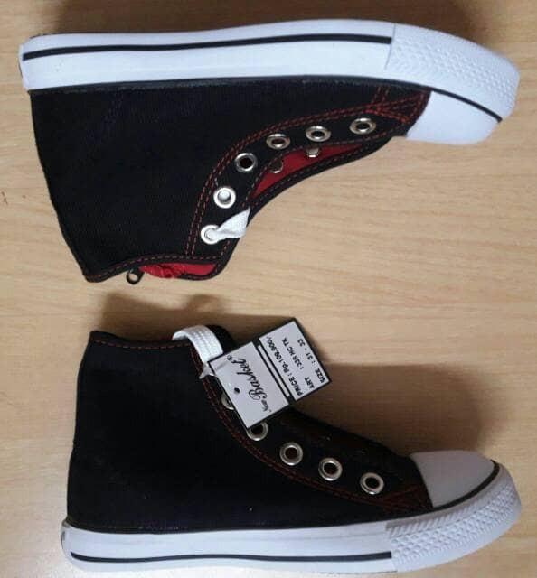 Jual sepatu sekolah new basket resleting tinggi cek harga di ... 1aaa957f1a