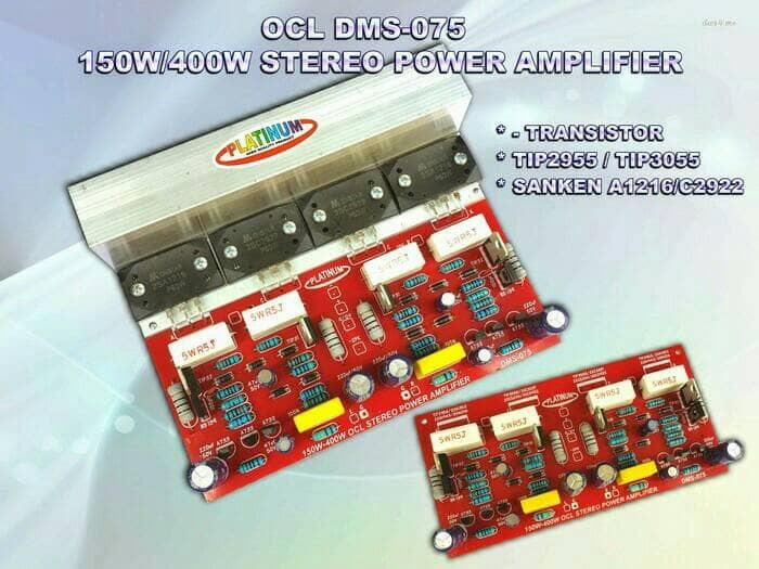 harga Kit power amplifier stereo ocl 150 - 400w ( 2sa1494 & 2sc3858 dms 075 Tokopedia.com
