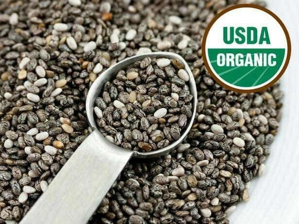 harga Organic black chia seed 1 kg / chia seeds 1000 gram mexico Tokopedia.com