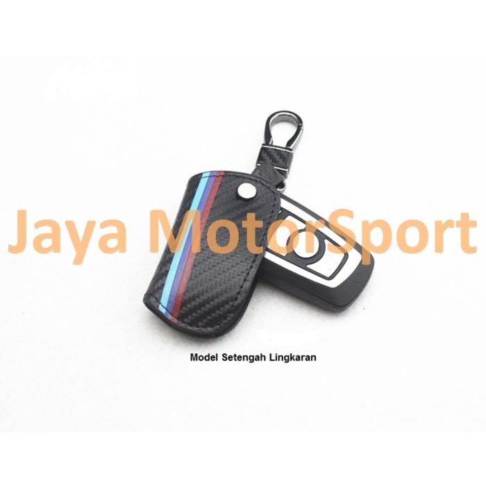 Foto Produk Carbon Fibre Car Key Holder Wallet for BMW - Model Setengah Lingkaran dari Jaya Motorsport
