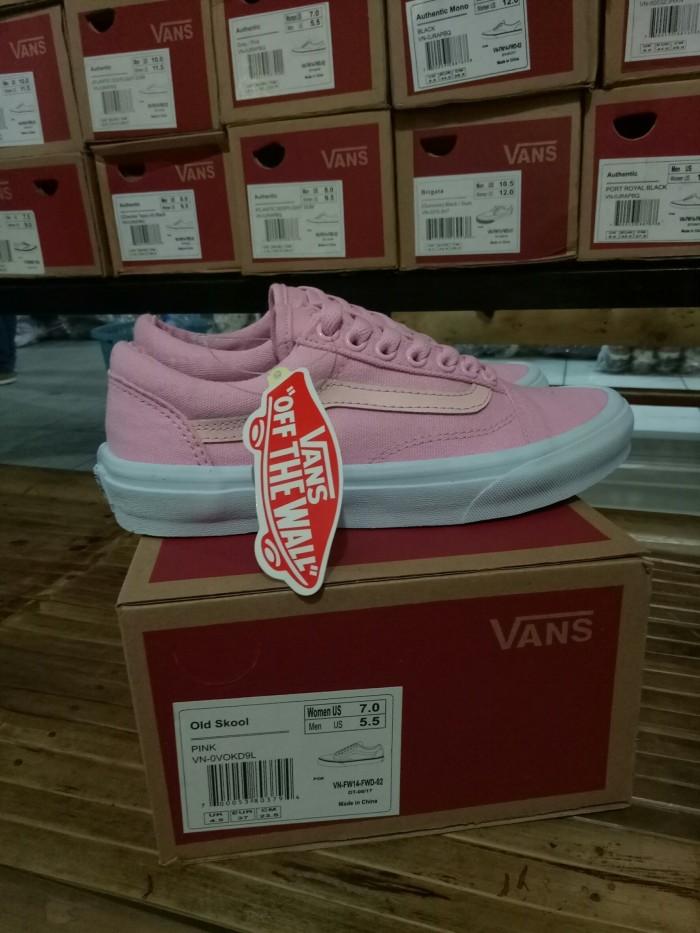Jual Sepatu Vans Old Skool Pink White