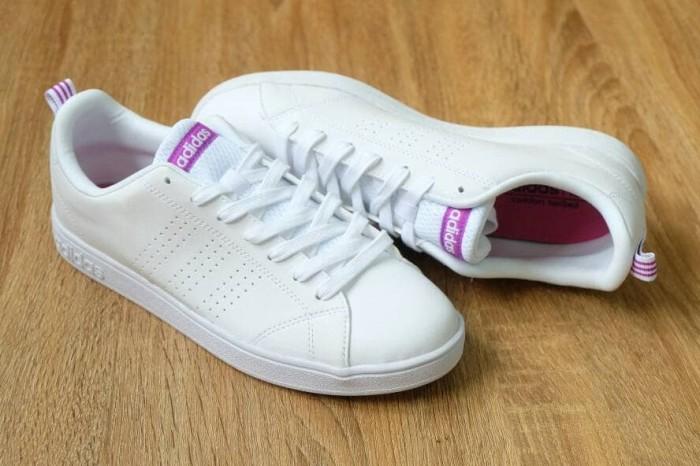 f8203a9d383 Jual Adidas Neo Advantage white stripe purple ORIGINAL ...