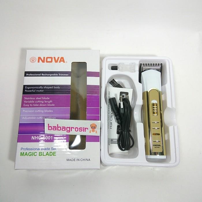 Cukur rambut rechargeable Nova NHC-6003 hair clipper bisa di cas