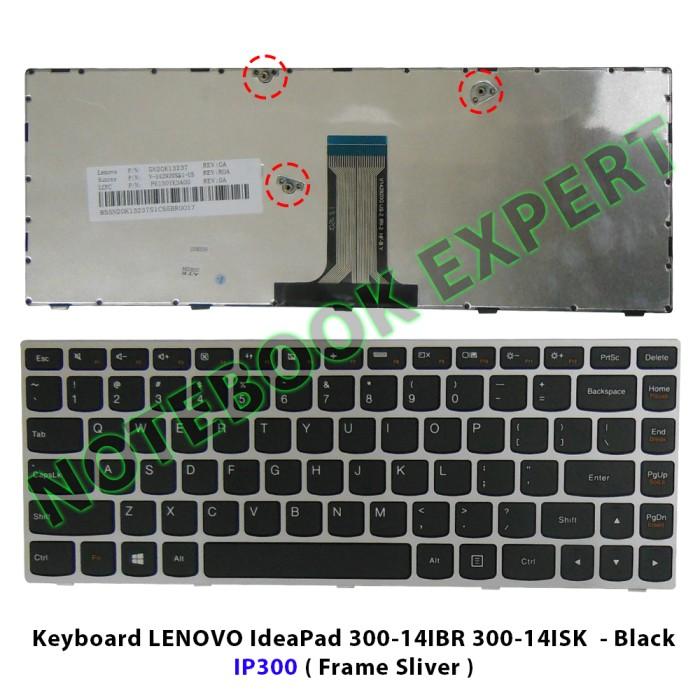 harga Keyboard lenovo ideapad 300-14ibr 300-14isk  - black ip300 Tokopedia.com