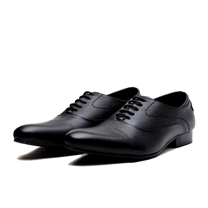 Sepatu Pantofel Pria PREMIUM - formal untuk kerja dan pesta Wetan NS-4 -  Hitam bc738572c1