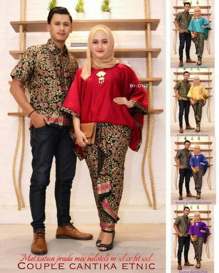 harga Batik couple sarimbit keluarga seragam pesta baju muslim kebaya wanita Tokopedia.com