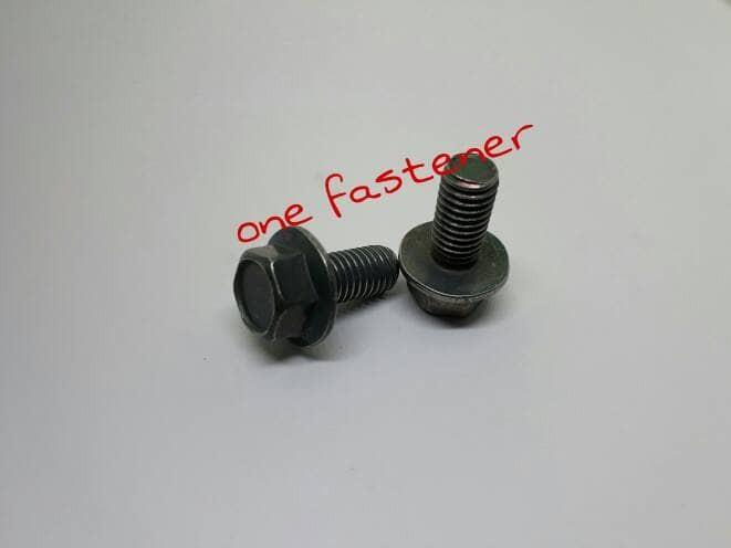 Foto Produk baut foot step 8x15 flange bolt hijau original motor dari ONE_FASTENER