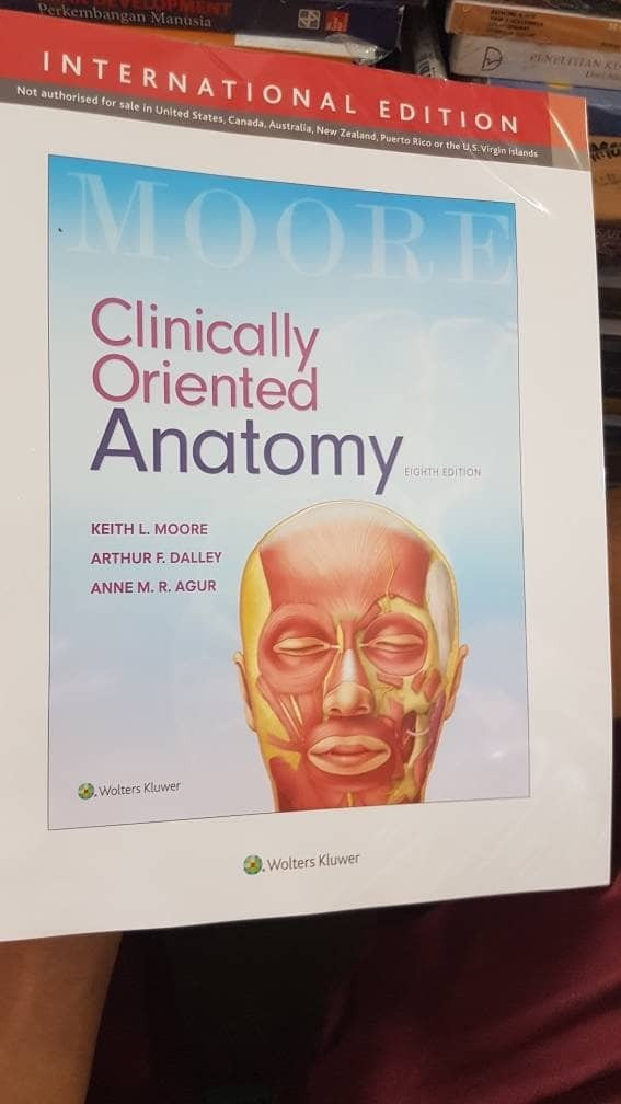 Jual clinically oriented anatomy by keith l moore 8th edition - Dori ...