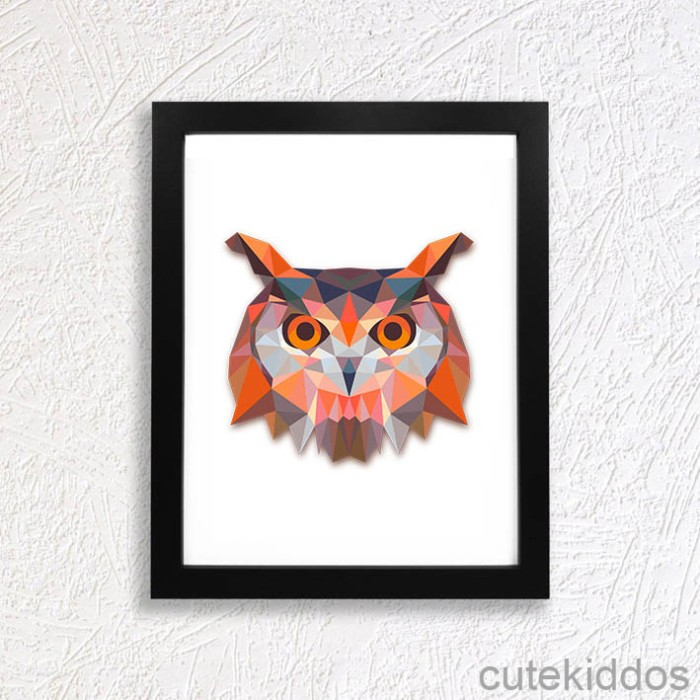 harga Hiasan dinding hewan lucu - geometris burung hantu - dekorasi kamar  Tokopedia.com 7b1069dd1a