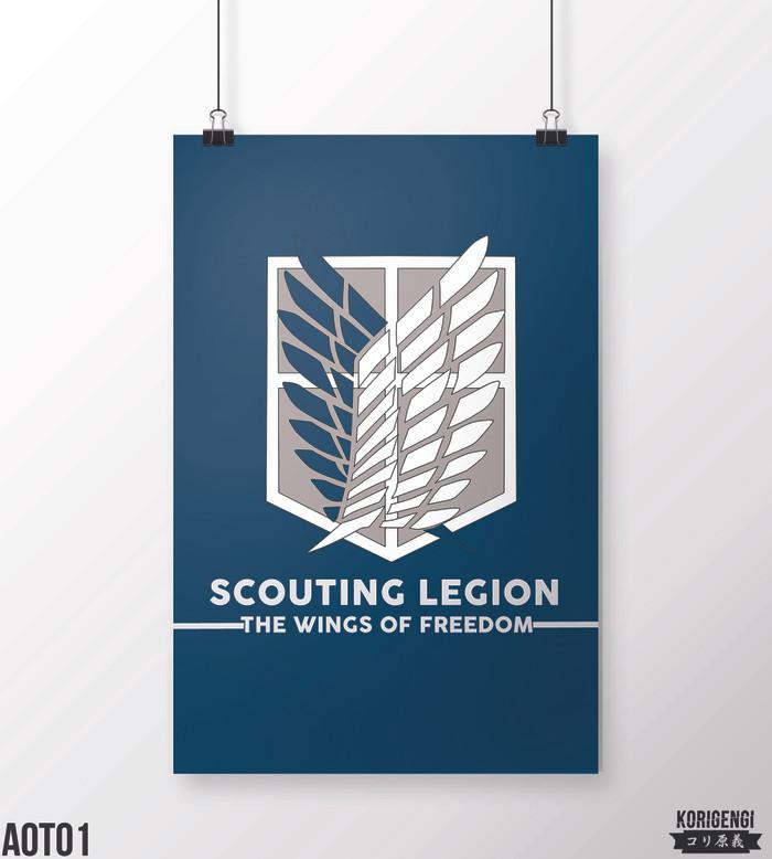 Foto Produk Poster Scouting Legion Attack on Titan A3+ dari KORIGENGI Store