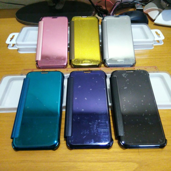 low priced 413ef 39b25 Jual Samsung Galaxy J7 Pro S view Clear View Flip Cover Autolock Flip Case  - DKI Jakarta - nuc | Tokopedia