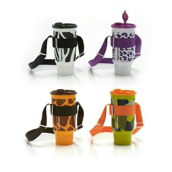 harga Tupperware safari tumbler tempat gelas minum selempang zebra jerapah Tokopedia.com