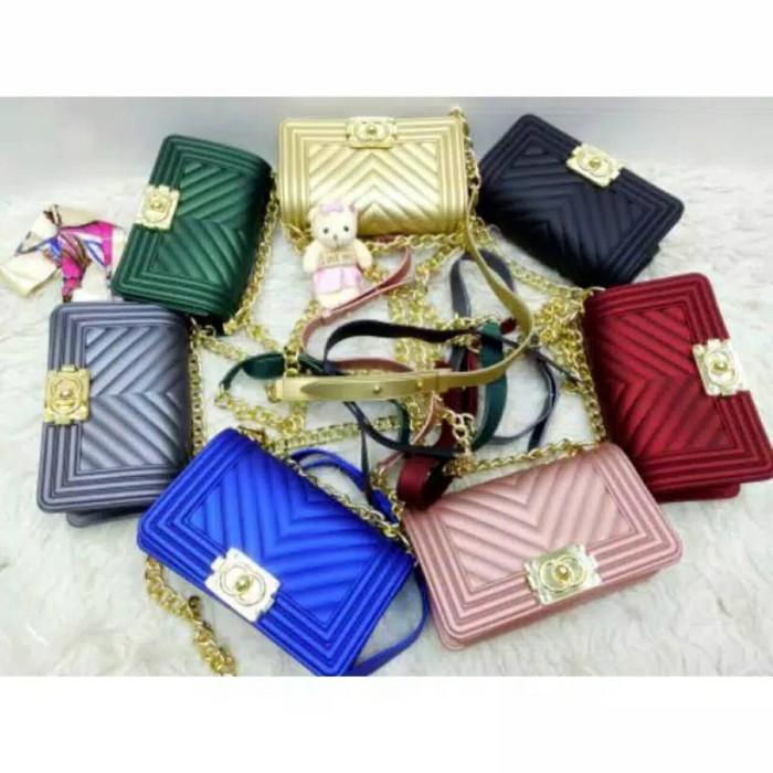 Tas wanita cewek branded fashion import Chanel Boy Jelly Chevron Mini bf6befefba