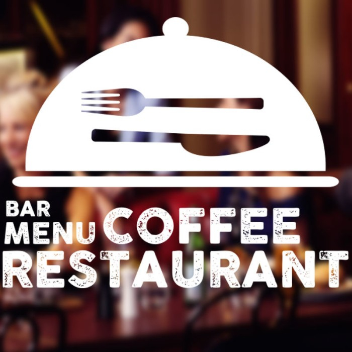 harga Wall sticker restaurant custom teks  stiker kaca dinding coffee 14 Tokopedia.com