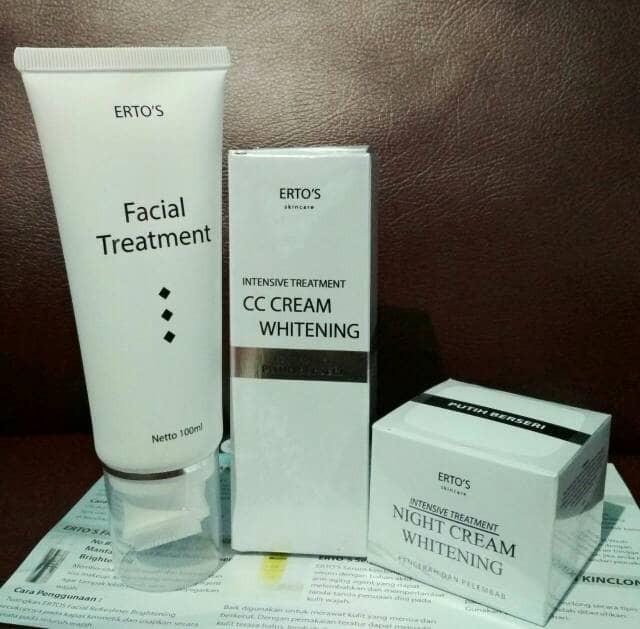 Foto Produk Ertos Facial Treatment+CC cream+Night Cream Erto's paket dari Toko Qianzi