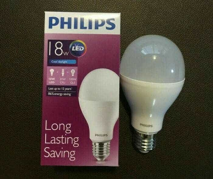 harga Lampu bohlam led philips 18 w 18 watt 18 wat putih hemat energi Tokopedia.com