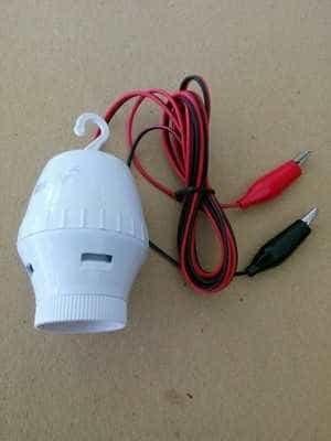 Foto Produk Fitting Lampu accu aki 12 volt inventer ac ke dc fiting e27 dari NurHouse wonosobo