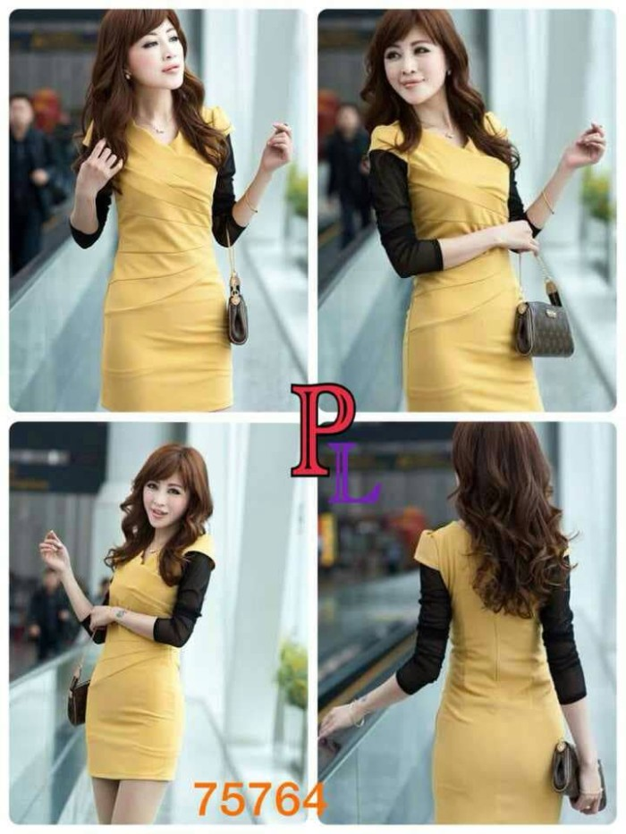 harga Wedges impor dress 75764 premium quality Tokopedia.com