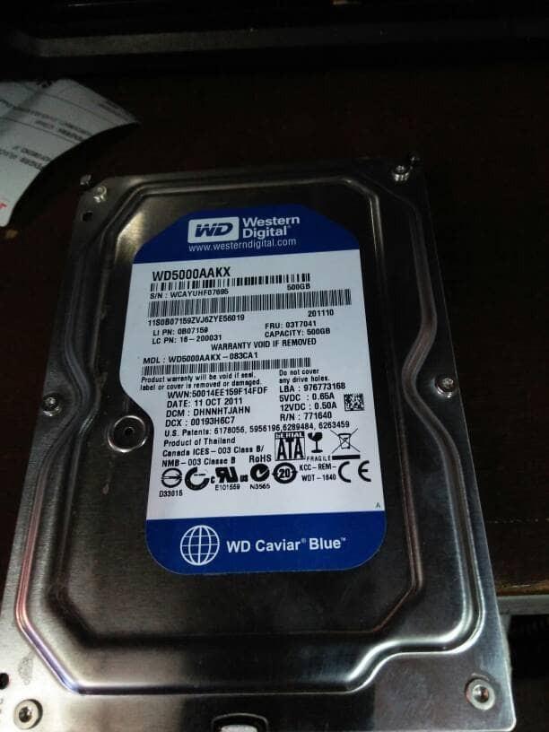 Hardisk Buat Pc Merk Seagate Dan Wd Blue 500 Gb Sata