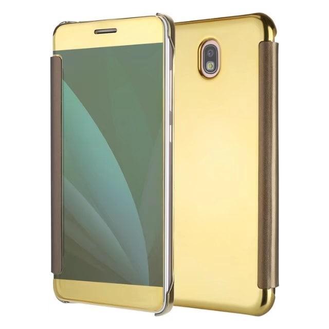 harga Mirror cover flip case for samsung galaxy j330 j3pro j3 pro 2017 Tokopedia.com