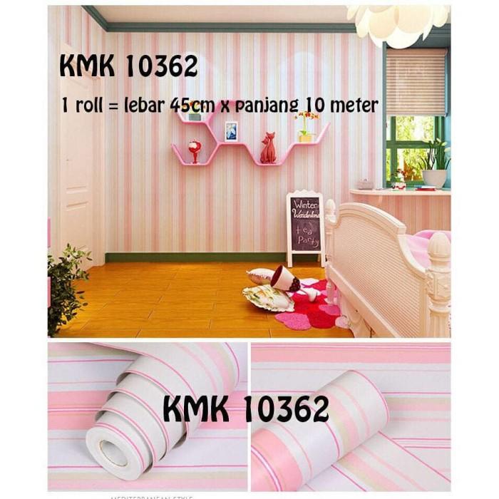 jual 10362 wallpaper sticker dinding murah, garis strip pink - kota