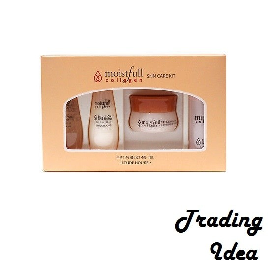 Etude house moistfull collagen skin care kit ( 4 pcs set ) original