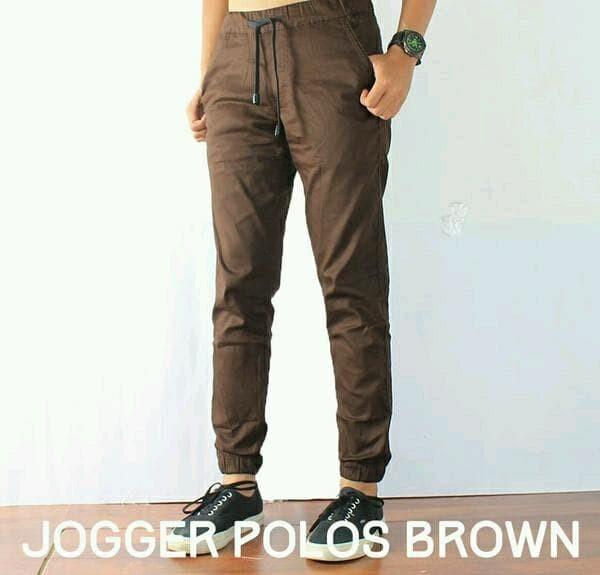 Celana Jogger Brown Celana Panjang Pria Celana Cargo .