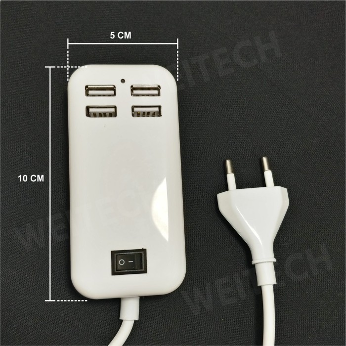 WEI TECH CHARGER USB 4-Ports 15W 8002