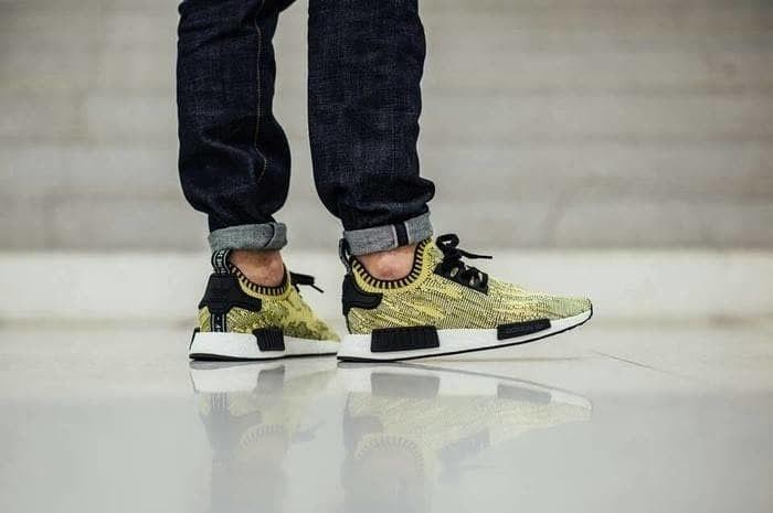 fc584488a Jual Sepatu Sneakers Adidas NMD R1 Primeknit Yellow Camo - We Have ...