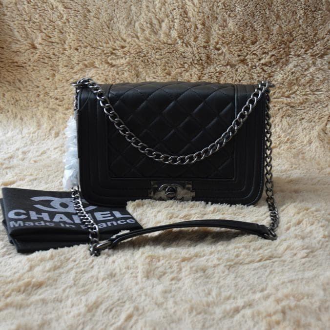 Jual Paling Murah Tas Selempang Tali Rantai Wanita Branded Chanel ... e1dc8d3d0a