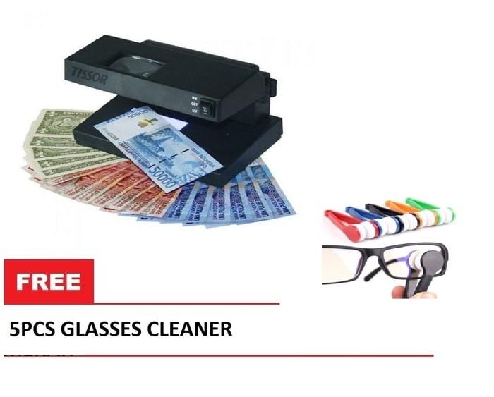 Alat Pendeteksi Uang TISSOR T2078 Free 5pc Pembersih Kacamata Murah