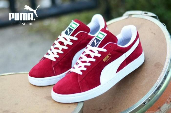 Jual Sepatu Puma Suede Merah List Putih Sol Putih - Laavoila  956145dcd4