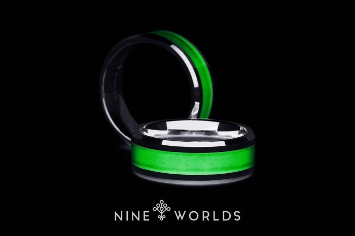 harga Nine worlds ring cincin tungsten ceramic 18k lume carbon pria wanita Tokopedia.com