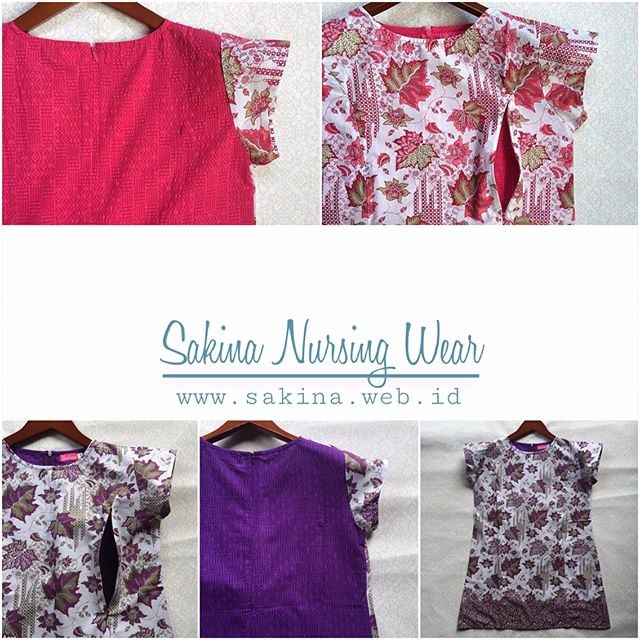 Jual Baju Batik Kebaya Menyusui Hamil Katun Kemeja Kerja Kota Makassar Sakina Nursing Wear Tokopedia