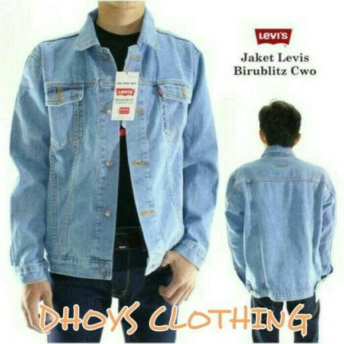 Jaket Jeans Levis Pria Size M, L, XL Ariel Greenlight Murah Cowo Nike