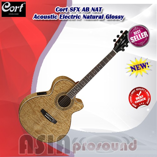 harga Gitar akustik elektrik cort sfx ab nat natural glossy Tokopedia.com