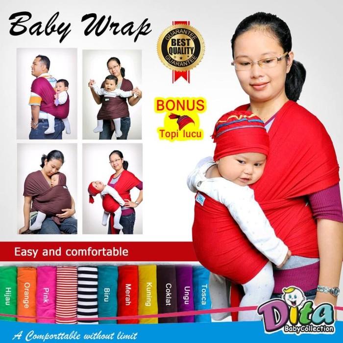 Jual Terima Grosir Gendongan Kangguru Baby Wrap Dita Dita Baby