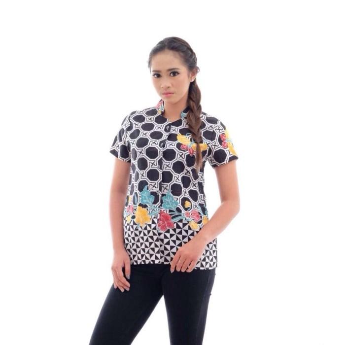 harga Atasan batik wanita / blouse batik / blus batik / baju batik katun Tokopedia.com