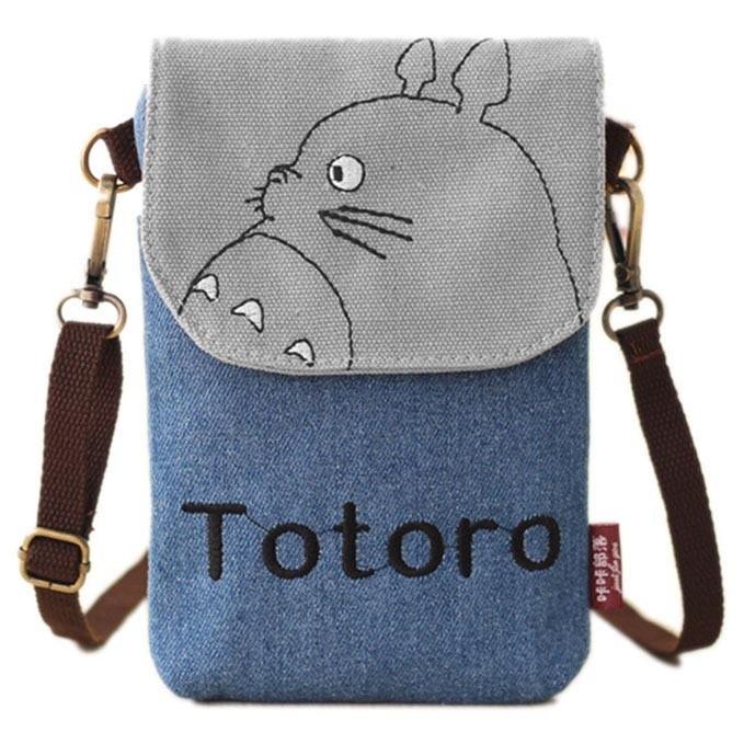 Tas selempang model totoro - blue