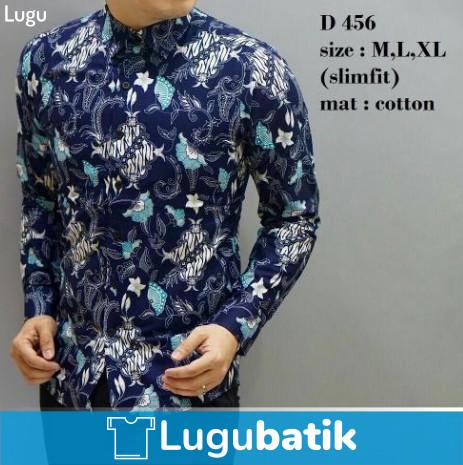 harga Baju kemeja lengan panjang pria / laki / cowo slimfit kantor batik Tokopedia.com