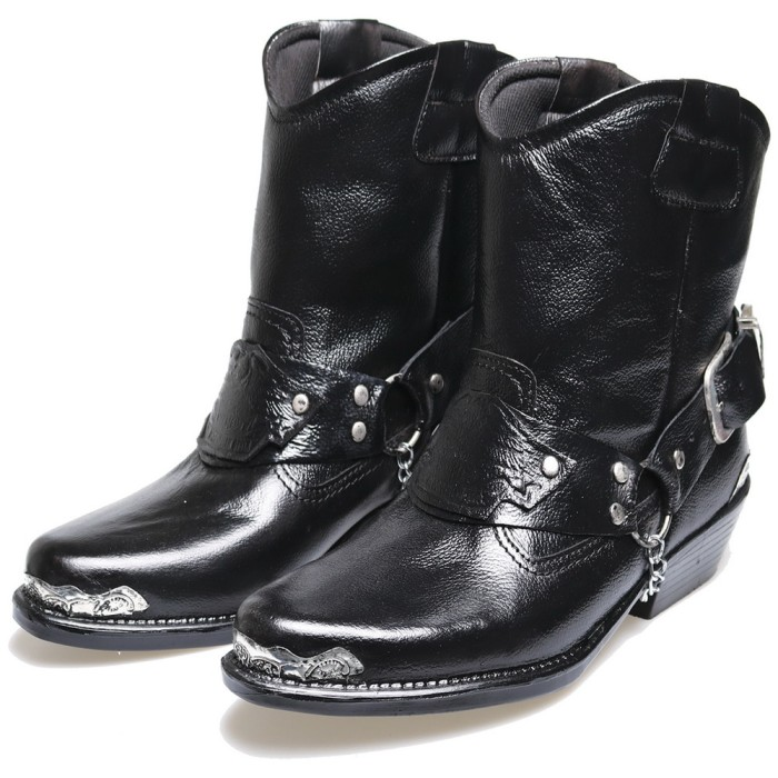 ... harga Kulit asli - sepatu boots pria   sepatu touring motor moge bikers  bsm Tokopedia. f1f6368a4b
