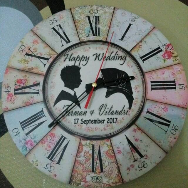 Jual PROMO.. JAM DINDING VINTAGE SHABBY CHIC CUSTOM - d angel shop ... 3f1c605608